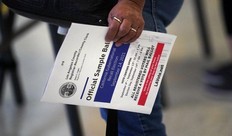 California Gov Newsom won the election recall